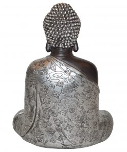 Japans-Boeddha-beeld-30-cm-bruin-zilver-achterkant
