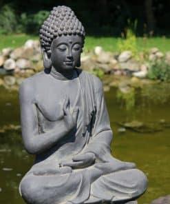 Beeld-grote-boeddha-zittend-donkergrijs-75cm