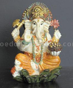 Ganesha zittend creme brons kleur 15cm