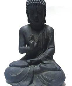 Zittende Boeddha 40 centimeter zwart