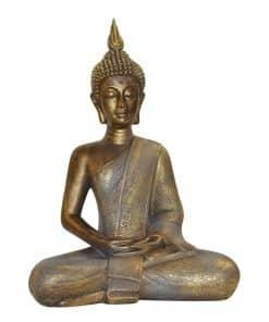Zittende Thaise Boeddha 42cm brons